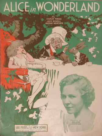 1933 Alice in Wonderland sheet music