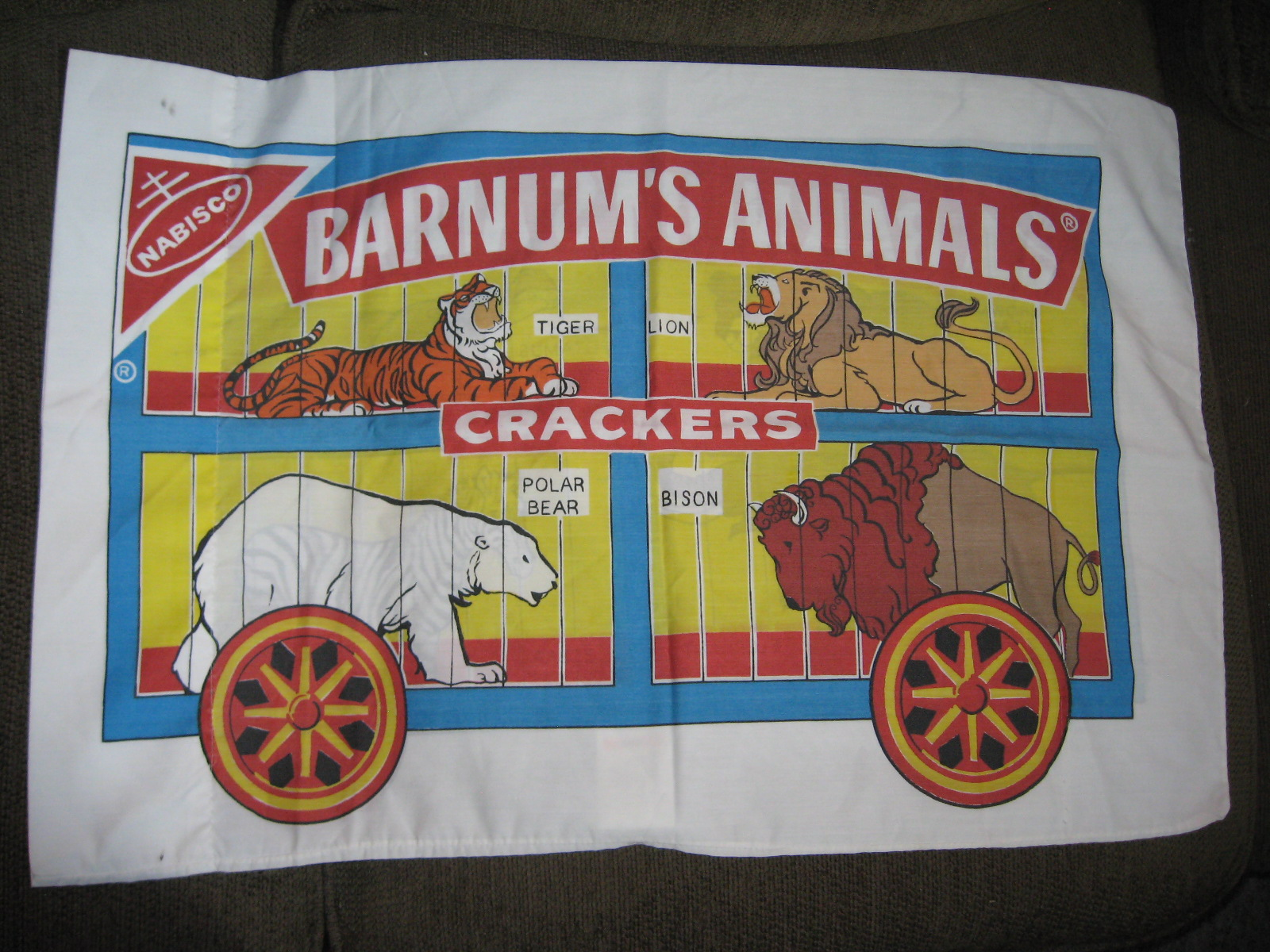 Barnum's Animal Crackers pillow case