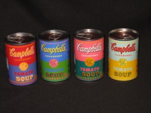 Andy Warhol-inspired Campbell Soup Cans