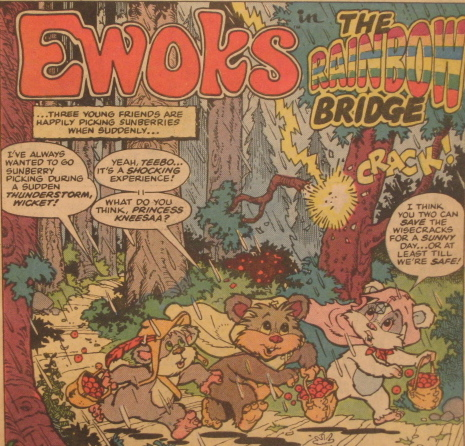 Detail from Ewoks Marvel Comic Book