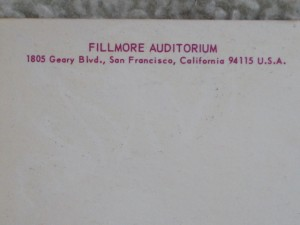 Detail from Fillmore West Card