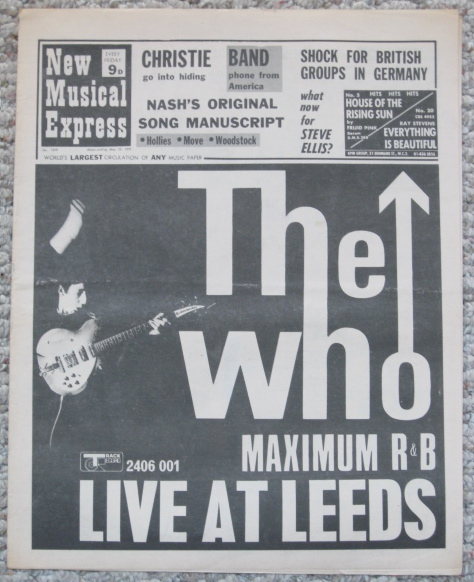 The Who on the cover of New Musical Express