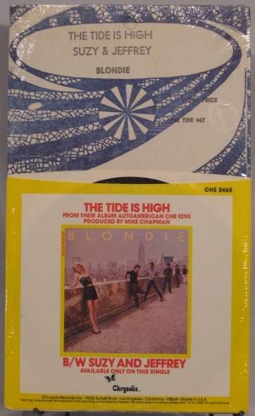 "Blondie's ""The Tide is HIgh"" 45 single"