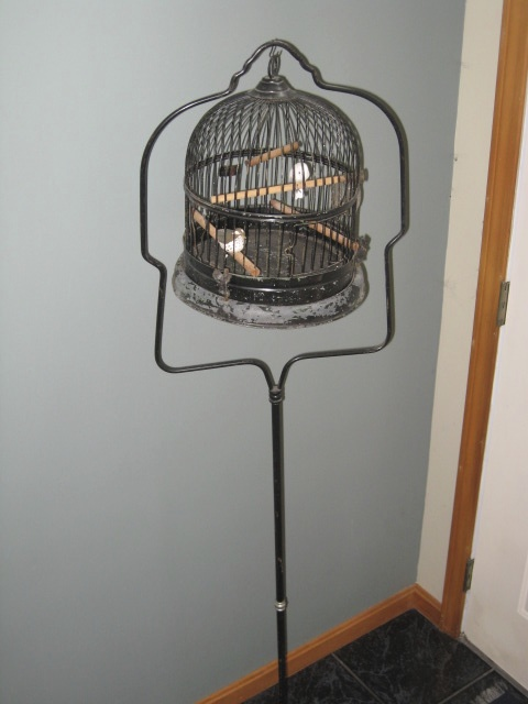 Early 1900s Antique Bird Cage With Stand