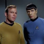 William Shatner and Leonard Nemoy in Star Trek (Credit: ushistoryeducatorblog.blogspot.com)