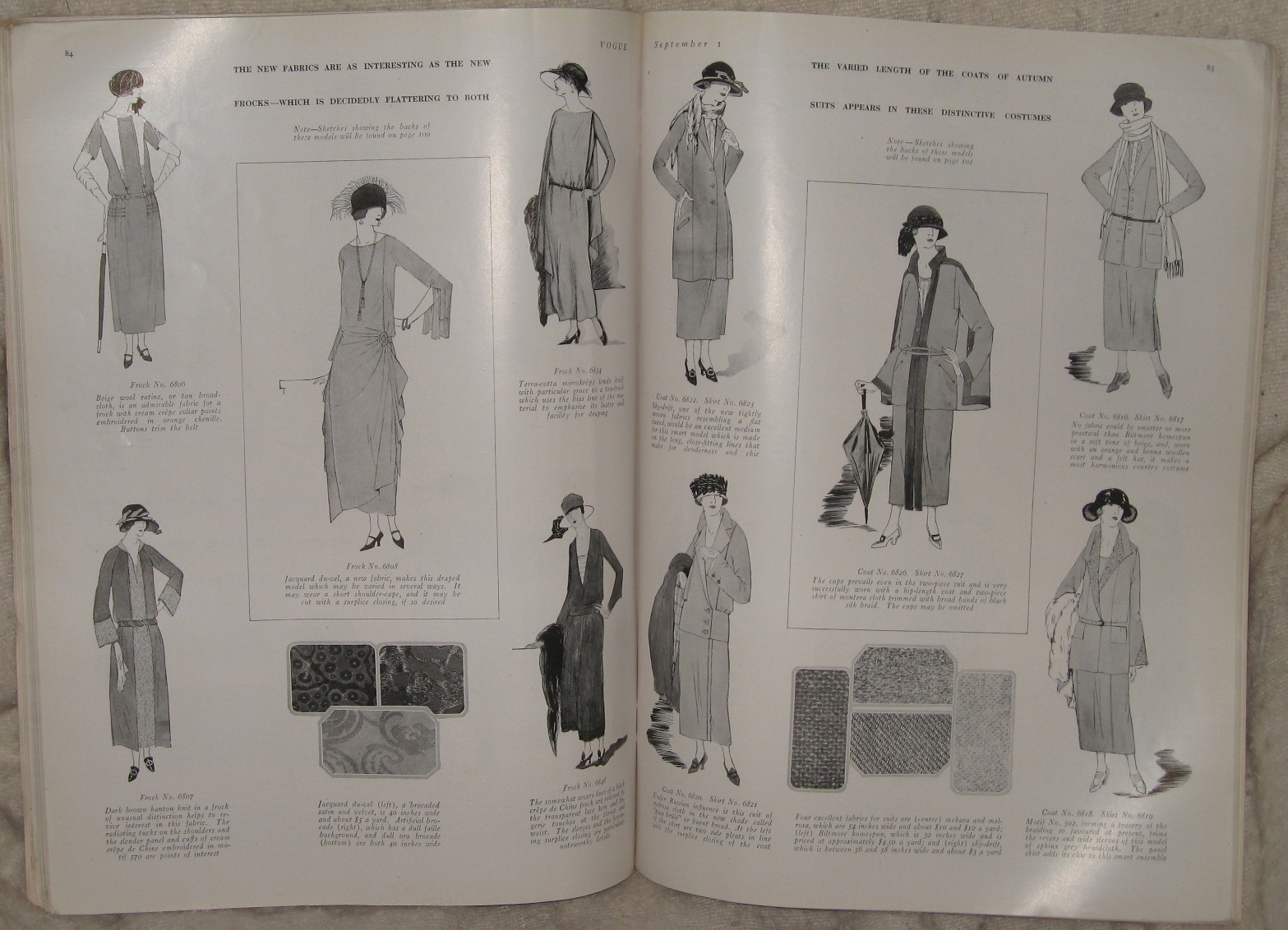 flappers  u0026 designs in sept 1922 issue of vogue magazine