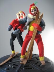 Felt Ski Dolls