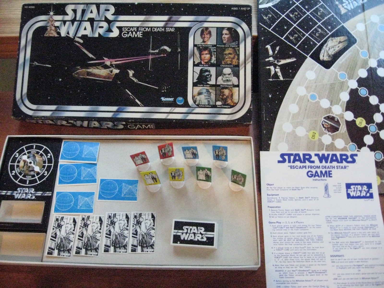 1977 Star Wars 'Escape from Death Star' board game