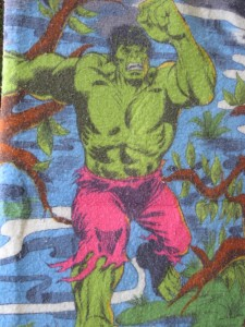 Detail of 1970s Hulk blank