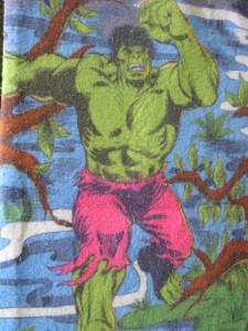 Detail of 1970s Hulk blank