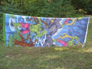 Vintage Hulk blanket