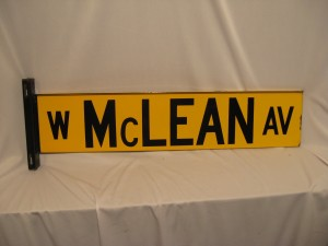 McLean Ave Street Sign Chicago
